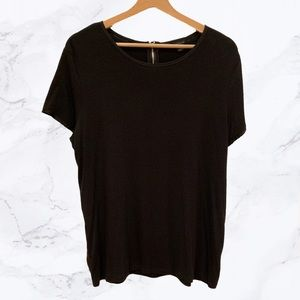Ann Taylor Loose-Fitting Tee with Rear Zip Closure